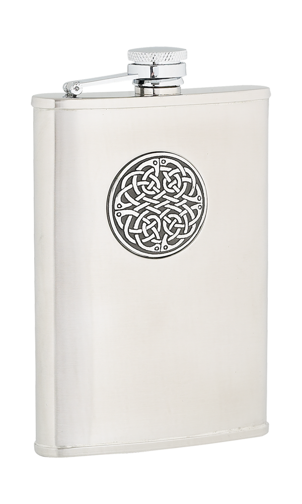 8oz Celtic Weave Stainless Steel Flask