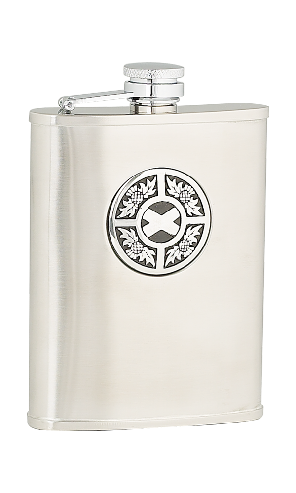 6oz Thistle & Saltire Stainless Steel Flask