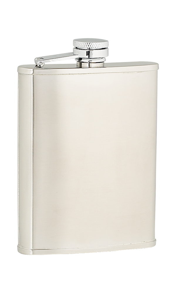 6oz Plain Satin Stainless Steel Flask