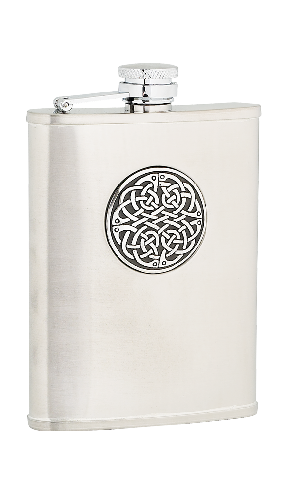 6oz Celtic Weave Stainless Steel Flask