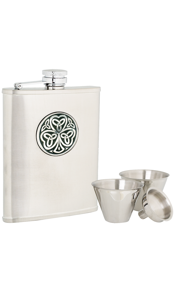 6oz Shamrock Stainless Steel Flask Set