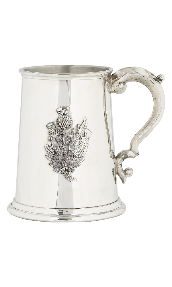 Thistle Pint Pewter Tankard