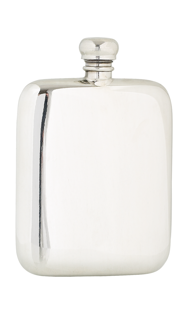 4oz Plain Pewter Flask