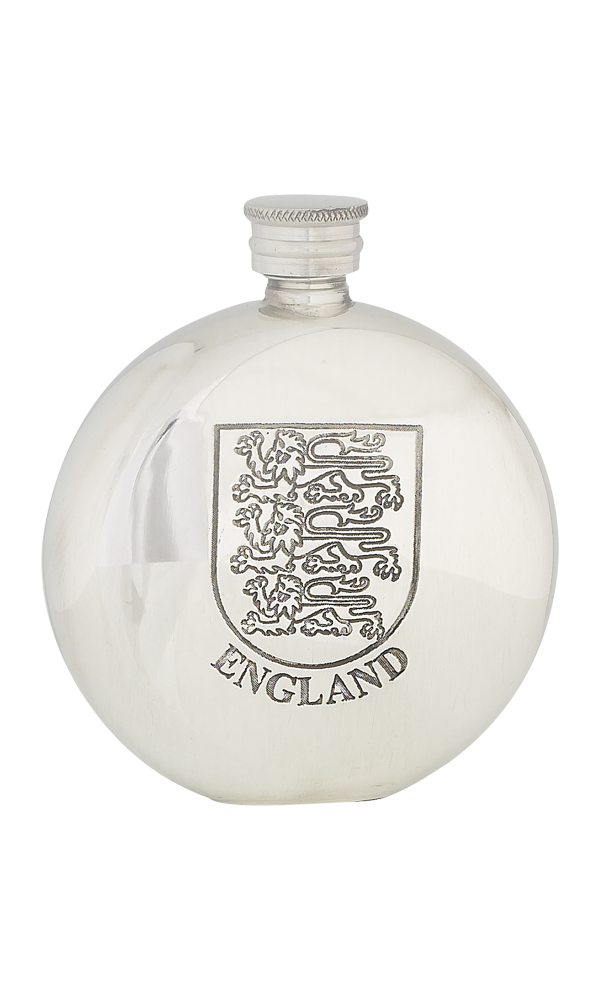 6oz England Three Lions Pewter Flask