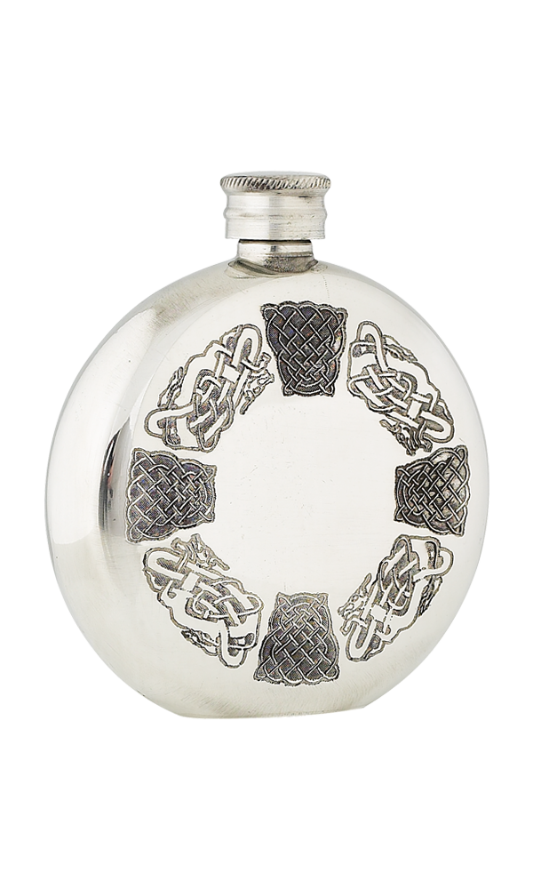 6oz Celtic Pewter Flask