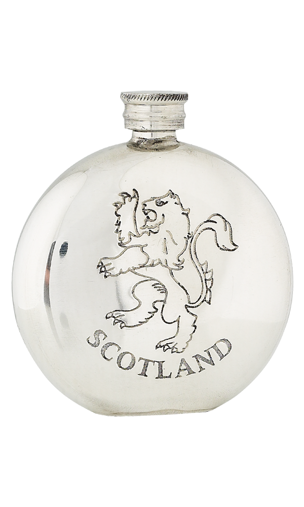6oz Lion Rampant Scotland Pewter Flask
