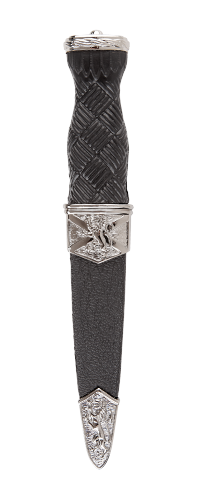 Imitation Lion Rampant Sgian Dubh With Plain Top