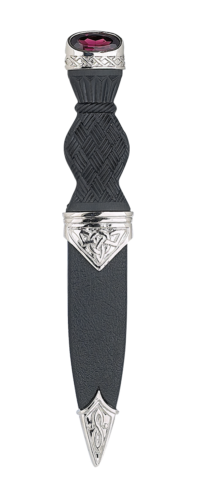 Celtic Plated Sgian Dubh With Stone Top