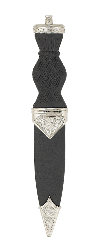 Nevis Thistle Sgian Dubh With Plain Top