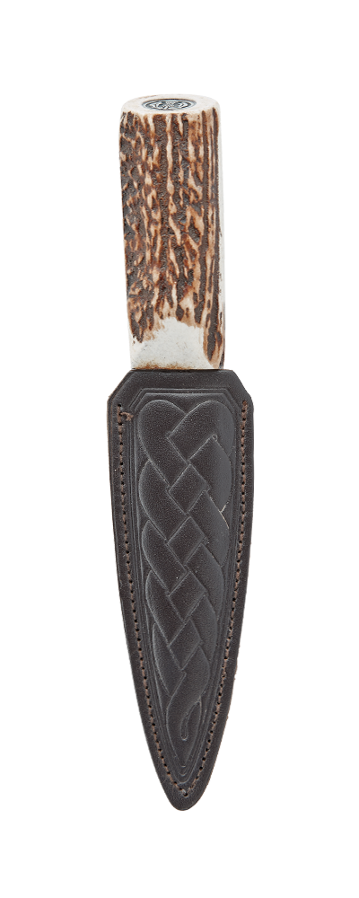 Imitation Stag Daywear Sgian Dubh With Thistle