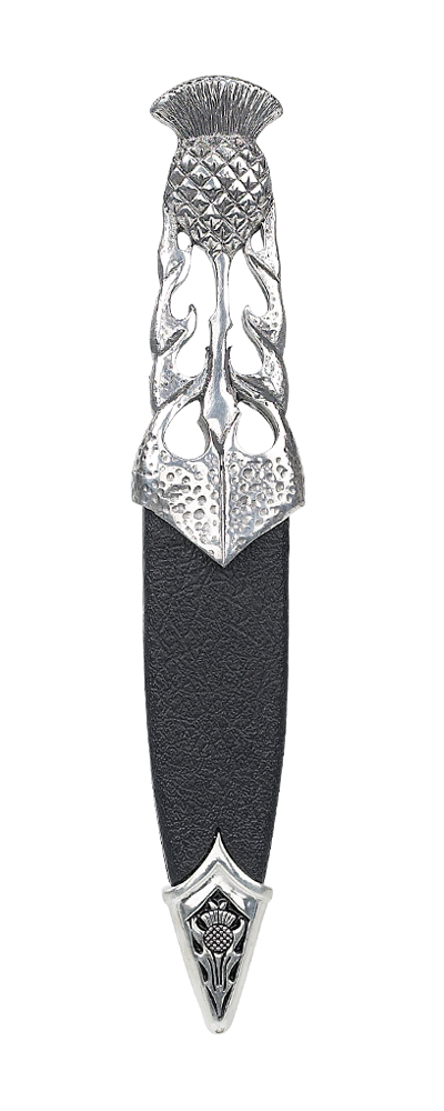 Ryan Thistle Polished Pewter Dress Sgian Dubh