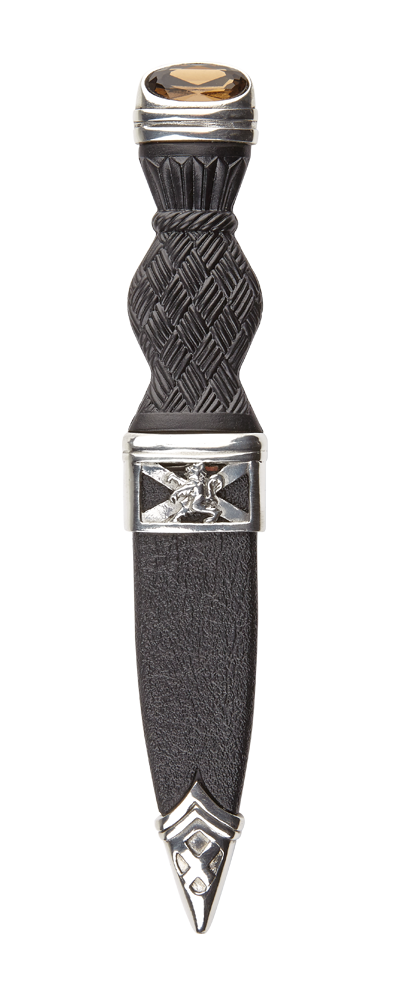 Lion Rampant Sgian Dubh With Stone Top