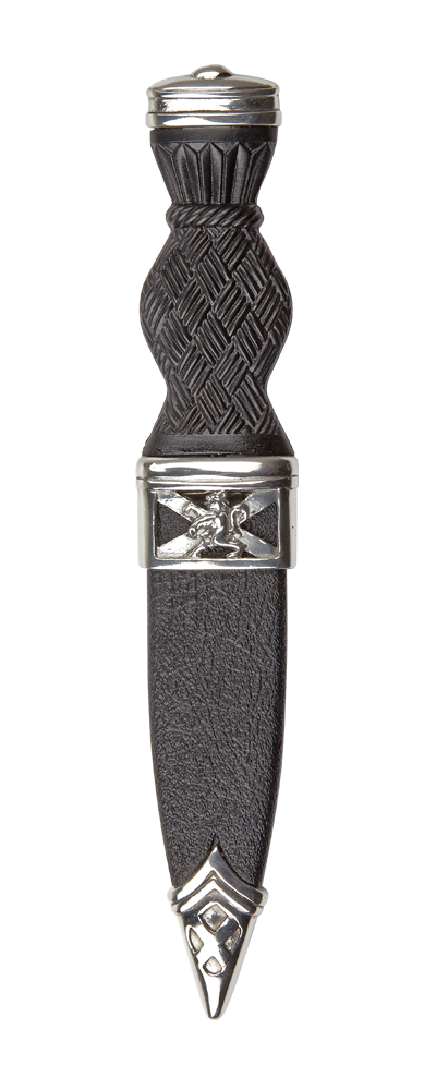 Lion Rampant Sgian Dubh With Plain Top