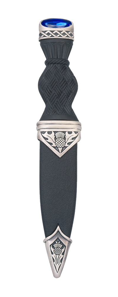 Thistle Matt Sgian Dubh With Stone Top