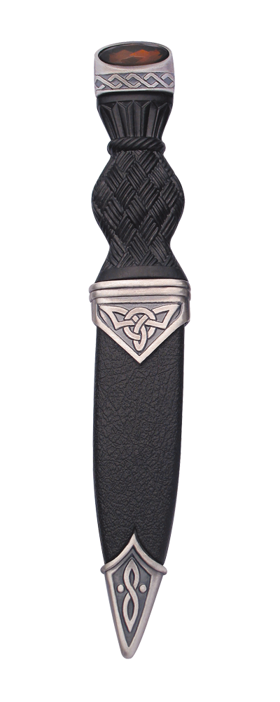 Celtic Matt Sgian Dubh With Stone Top