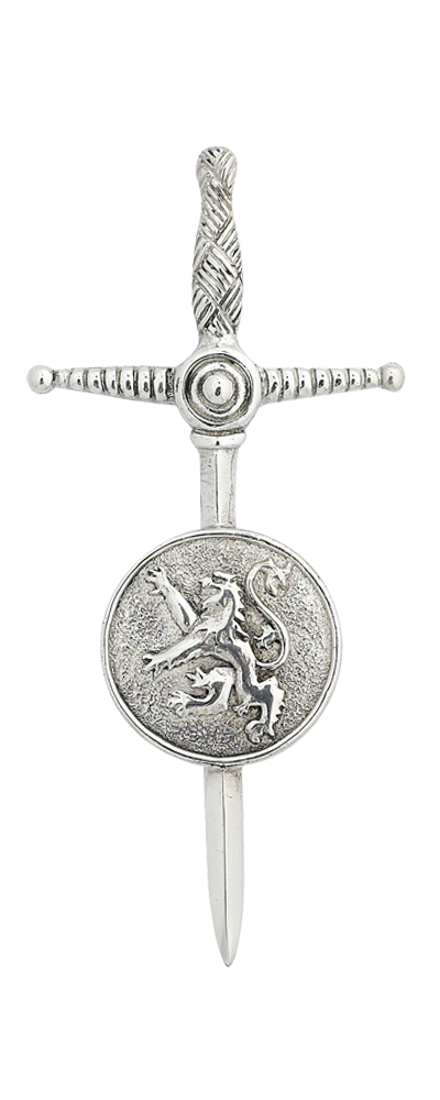 Lion Rampant Shield Kilt Pin