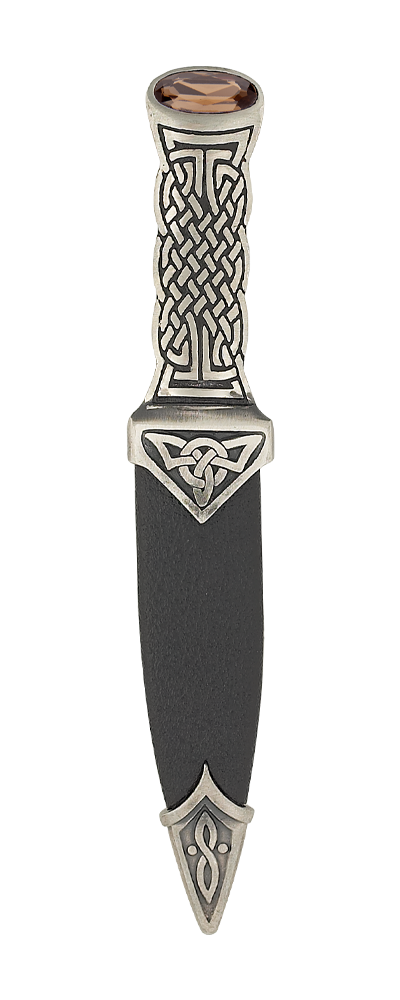 Boisdale Matt Pewter Sgian Dubh With Stone Top