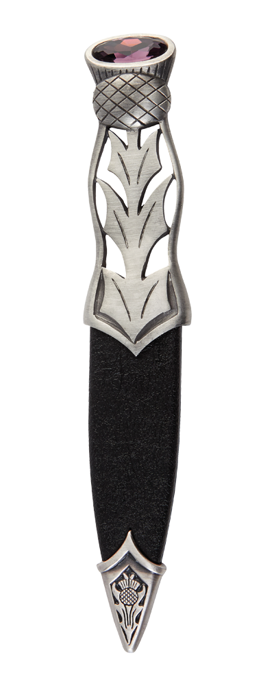 Jura Matt Pewter Sgian Dubh With Stone Top