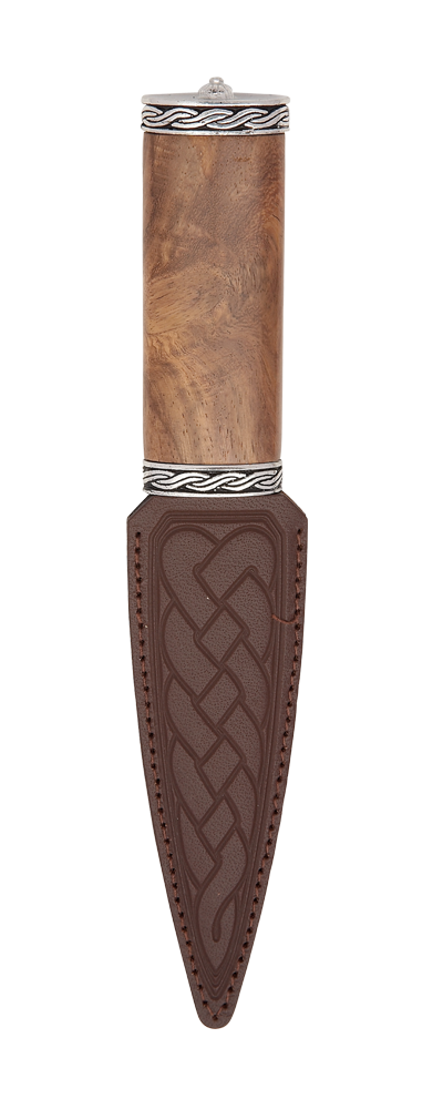 Torridon Red Shisham Sgian Dubh With Plain Top