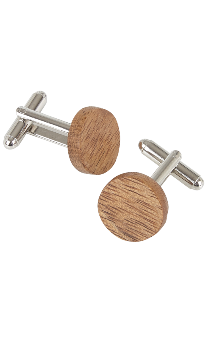 Round Cufflinks - Amazaque Wood