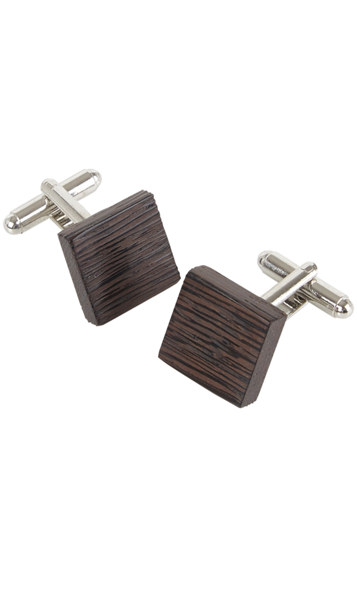 Square Cufflinks - Wenge Wood