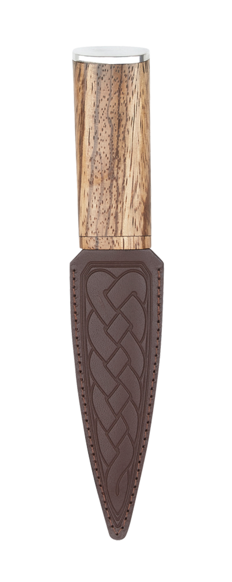 Zebrano Arisaig Sgian Dubh - Pewter Top