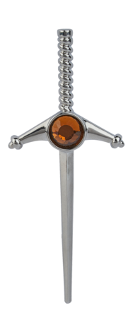 Sword Kilt Pin With Stone